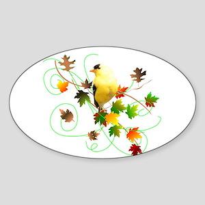 Goldfinch Oval Sticker