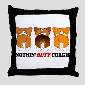 Mix Pembroke Butts Throw Pillow