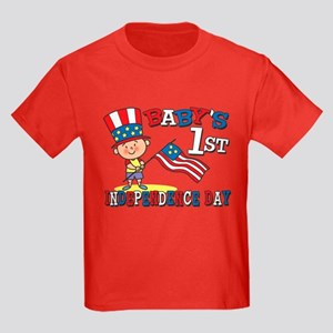 Baby's First Independence Day Kids Dark T-Shirt
