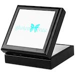 gluten-free butterfly (teal) Keepsake Box