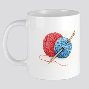 aceo-knitting-mug-01 20 oz Ceramic Mega Mug