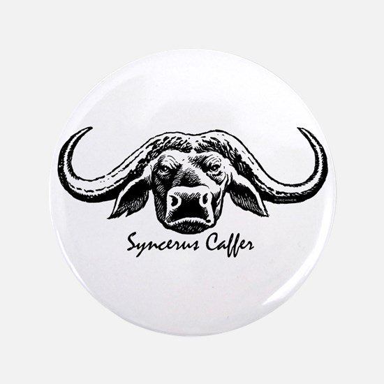 "Cape Buffalo 3.5"" Button"
