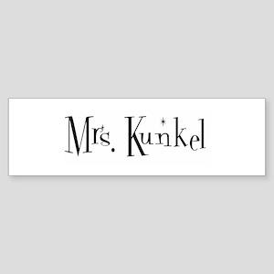 Mrs. Kunkel Bumper Sticker