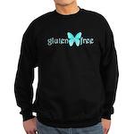 gluten-free butterfly (teal) Sweatshirt (dark)