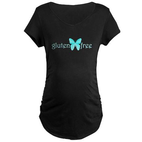 gluten-free butterfly (teal) Maternity Dark T-Shir