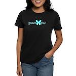 gluten-free butterfly (teal) Women's Dark T-Shirt