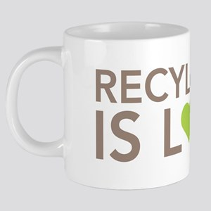 Recycling 20 oz Ceramic Mega Mug