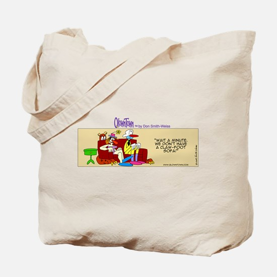 Cute Man couch Tote Bag