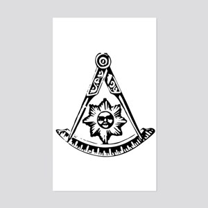 Past Master's Rectangle Sticker