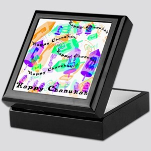 Dreidels Happy Chanukah Keepsake Box