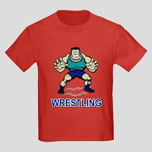 Funny Wrestling Kids Dark T-Shirt