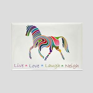 Rainbow pony Rectangle Magnet