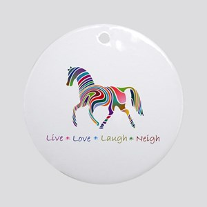 Rainbow pony Ornament (Round)