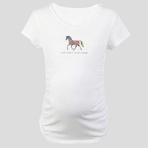Rainbow pony Maternity T-Shirt