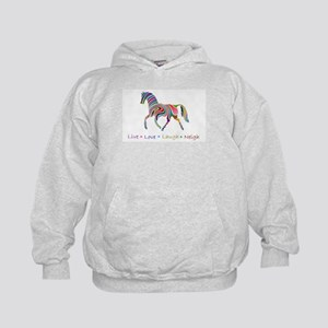 Rainbow pony Kids Hoodie
