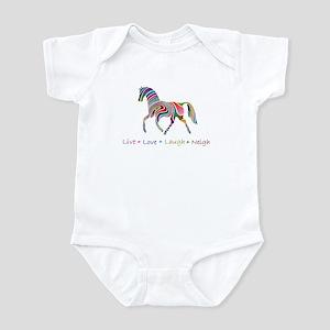 Rainbow pony Infant Bodysuit
