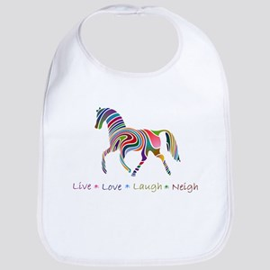 Rainbow pony Bib