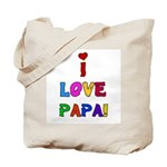 I Love Papa Tote Bag