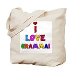 I Love Gramma Tote Bag