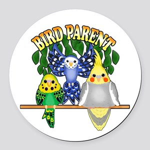 Bird Parent Round Car Magnet
