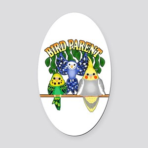 Bird Parent Oval Car Magnet
