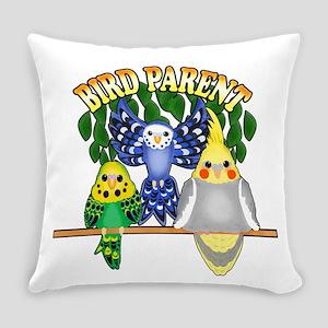 Bird Parent Everyday Pillow