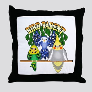 Bird Parent Throw Pillow