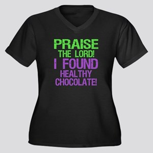 PTL! Healthy Chocolate! Women's Plus Size V-Neck D
