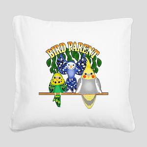 Bird Parent Square Canvas Pillow