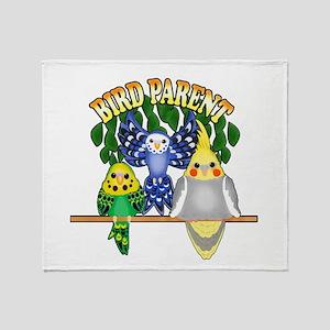 Bird Parent Throw Blanket