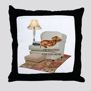 TV Doxie Throw Pillow