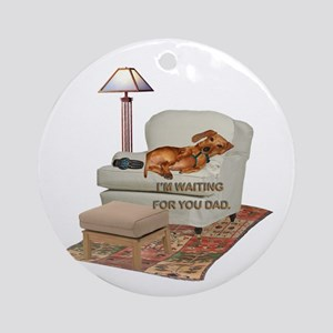 TV Doxie Dad Ornament (Round)