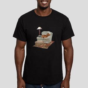 TV Doxie Dad Men's Fitted T-Shirt (dark)