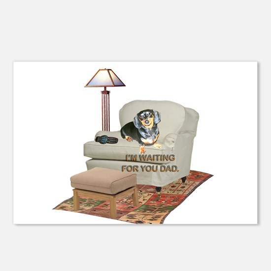TV Dad Doxie Postcards (Package of 8)