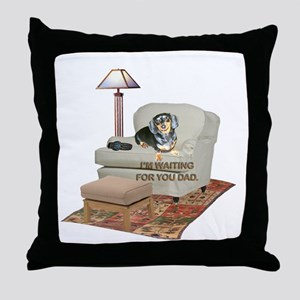 TV Dad Doxie Throw Pillow