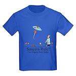 Saucers Rule! Kids Dark T-Shirt