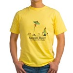 Saucers Rule! Yellow T-Shirt