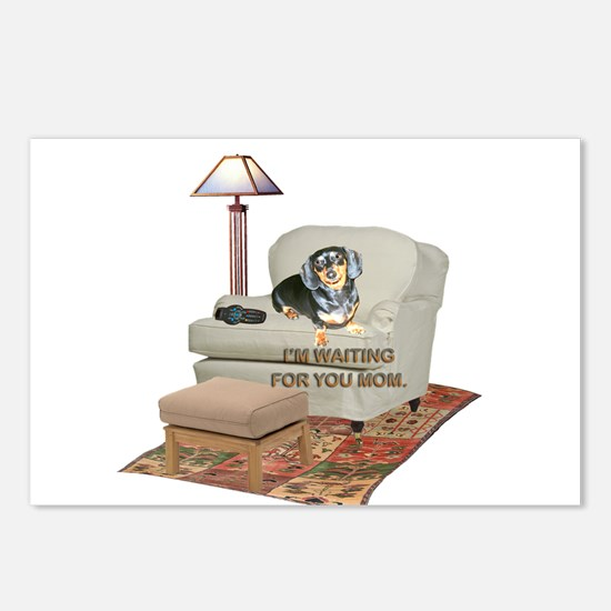 TV Mom Doxie Postcards (Package of 8)