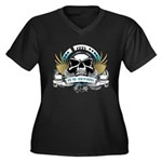 Be An Individual Women's Plus Size V-Neck Dark T-S