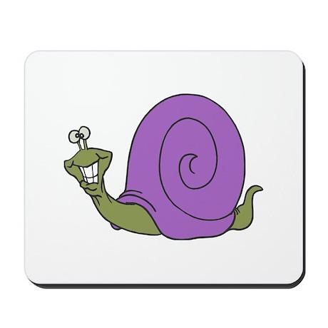 Happy Goofy Snail Mousepad