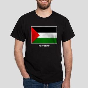 Palestine Palestinian Flag (Front) Black T-Shirt