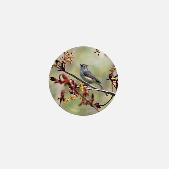 Tufted titmouse bird Mini Button