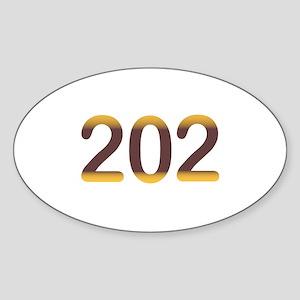 202 Area Code Washington DC Sticker