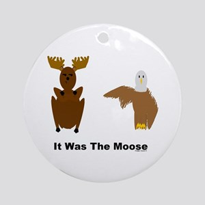 Eagle Blames Moose Ornament (Round)