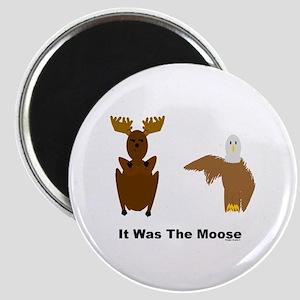Eagle Blames Moose Magnet