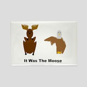 Eagle Blames Moose Rectangle Magnet