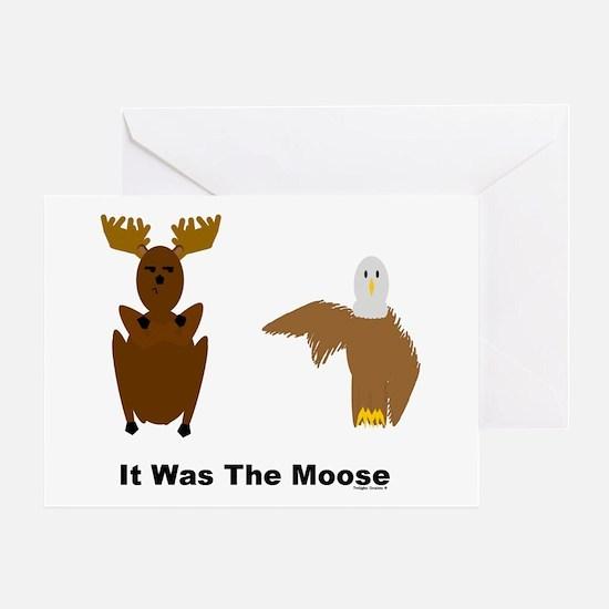 Eagle Blames Moose Greeting Card
