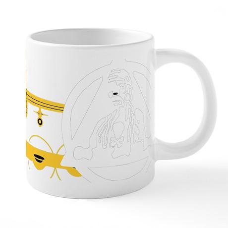 MUG-6BW-v1-white on trans.p 20 oz Ceramic Mega Mug