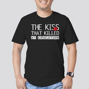 The Kiss that Killed Men's Fitted T-Shirt (dark)