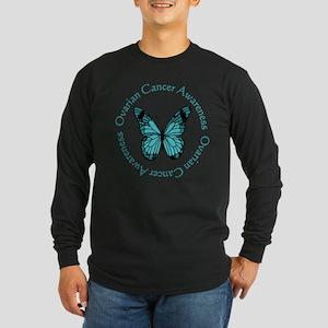 Ovarian Cancer Awareness Long Sleeve Dark T-Shirt